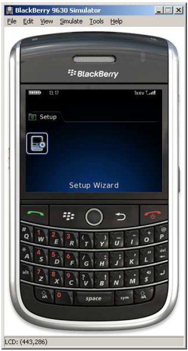 what is setup wizard on a blackberry