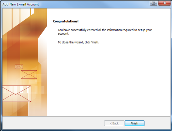 If this is a fresh installation of outlook, you will be greeted with the following screen:-7