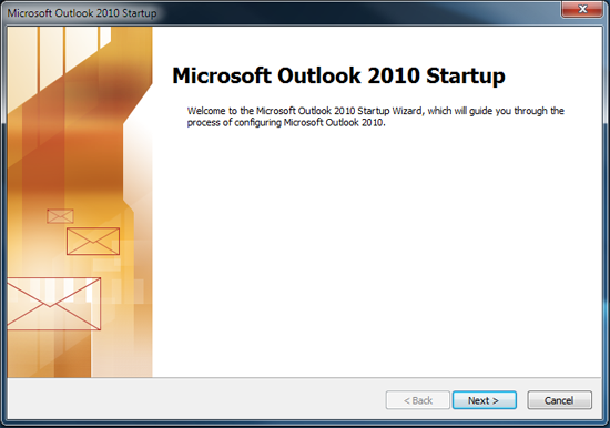 Set up AhelioTech hosted e-mail in Outlook 2010-1