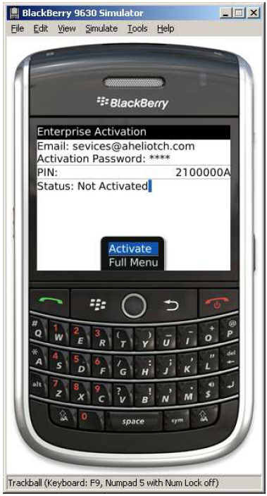 How to setup Blackberry Enterprise Server Exchange Account-10