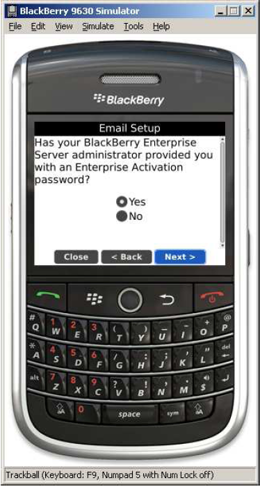 How to setup Blackberry Enterprise Server Exchange Account-7
