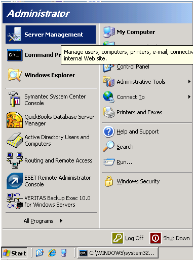 Check Microsoft Windows 2003 Small Business Server for Successful or Failed Backup-1