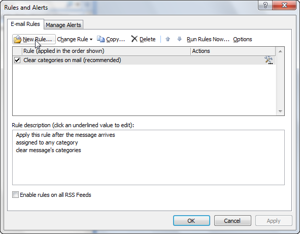 How to create a spam filter rule in Outlook 2007-3
